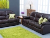 Brown or Black with reclining Armchairs.
